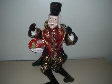 "Scrooge Christmas Ornament 14"" Sequin Attire Poseable Plastic"