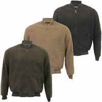 Mens Borg Sherpa Fleece Sweatshirt Brave Soul MANNA Zip Baseball Neck Top Warm