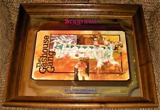 Rare Vintage St. Louis Cardinals Gashouse Gang Seagram's Wood Framed Bar Mirror