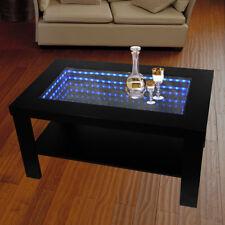 HOME DELUXE LED 3D Tisch Couchtisch Wohnzimmer Glastisch Spiegel Tiefeffekt RGB