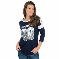 BRAND NEW! Dallas COWBOYS Victoria Secret Pink NFL Boyfriend Jersey XS BLING