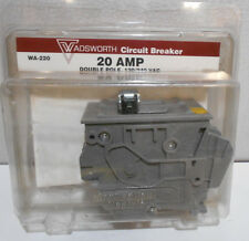 Wadsworth Circuit Breaker Double Pole 20 Amp Wa-220