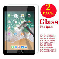 """2-Pack Tempered Glass Screen Protector For iPad 2 3 4 Air Pro 9.7 10.2 10.5 11"""""""