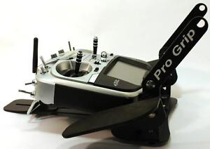Pro Grip Transmitter Tray for any Radio Control RC Radio Black Finish with Strap