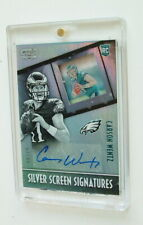 2016 PANINI CARSON WENTZ SILVER SCREEN SIGNATURES AUTOGRAPHED ROOKIE CARD 63/99