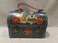 "VINTAGE 1960'S-70'S DOME ""DENIM PATCH WORK DOG"" METAL LUNCH BOX"