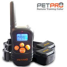 Petpro REMOTE DOG TRAINING COLLAR portée 300 m, étanche, rechargeable (2 col)