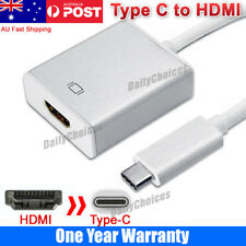 USB-C Type C USB3.1 Male to HDMI Female HDTV 1080p Adapter Cable for MacBook 12""