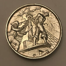 Rare 2 OZ .999 FINE SILVER ROUND 'WALK THE PLANK' by ELEMETAL MINT Free Shipping