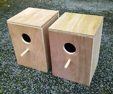 "Pair Of Cockatiel Parakeet Nest Nesting Breeding Boxes  11"" x 8"" x 8"""
