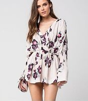 FREE PEOPLE Top Dress Sz M Tuscan Dreams Tunic Ivory Floral