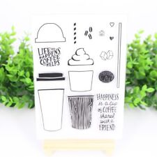 Decorative Clear Coffee Cup Transparent Stamp DIY Silicone Rubber Scrapbooking