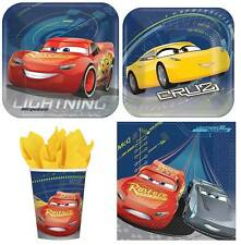 Cars 3 Mc Queen Party Supplies Express Pack for 8 Guests (Cups Napkins & Plates)