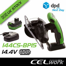 CEL 14.4V Li-Ion Cordless 110mm Circular Saw with Battery + Charger