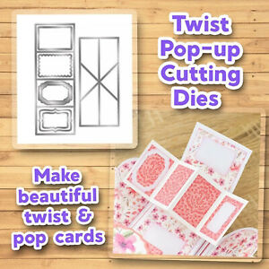 DIY Twist Pop-up Card Cutting Dies Set Carbon Steel Slot Spin Vintage Frames AU