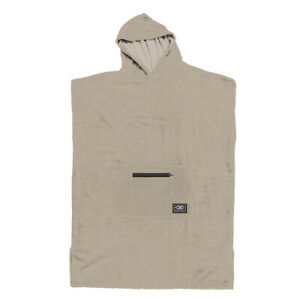 Ocean & Earth Adult Lightweight Hooded Surf Poncho Towel - Taupe