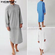 Men's Long Sleeve Soft Nightshirt Night Gown Dressing Gown Nightwear Loungewear