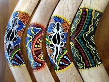 1 X RANDOM PICK 30 CM LENGTH  ABORIGINAL STYLE BOOMERANG WITH DOT ART PAINTING