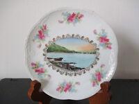 Circa 1910 Souvenir Eggshell Porcelain Dish The Narrows Lake George New York