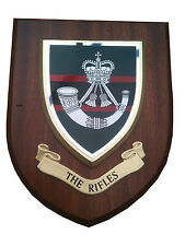 The Rifles Regiment Wall Plaque UK Hand Made for MOD Military