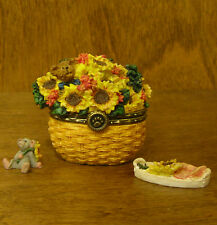 Boyds Treasure Box  #82537 Edmund's Sunny Basket...w/ POTTER McNIBBLE, NEW/Box