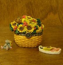 Boyds Treasure Box  #82537 Edmund's Sunny Basket...w/ POTTER McNIBBLE, NEW/Box