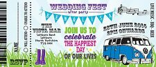 Sample Wedding Invitation Wedfest Camper Van Ticket!The Invite Shack