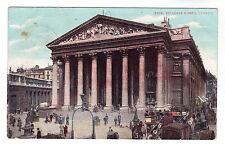 Royal Exchange & Bank - London Photo Postcard 1906