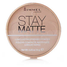 RIMMEL LONDON STAY MATTE PRESSED POWDER 005 SILKY BEIGE NEW