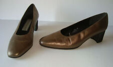 Classy Cute Bandolino Size 7.5 M Pumps Bronze with Psychedelic Cover Heels Shoes