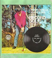 GOLF INSTRUCTION FLEXIBLE 33rpm RECORD - ALAN MURRAY, THE GRIP