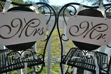 Mr and Mrs Wedding Signs (Custom Engraved Signs)