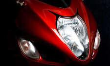 Hayabusa BLACK Headlight Head Light Trim! 99-01-02-03-04-05-06-07 1999-2005-2007