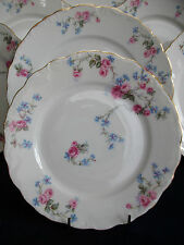 Wm GUERIN-BAWO & DOTTER (ELITE)-CORNFLOWERS (c.1890+) SALAD PLATE(s) MINT! GILT!