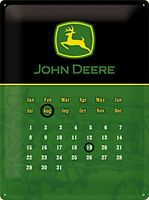John Deere Verde/Nero Everlasting Metallo Calendario 400mm x 300mm (Na)