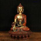 China Tibet Buddhism Temple Bronze Gilt Buddha Statue 4013