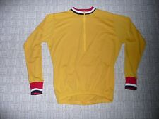 WOOL MERINO SUPER WASH BIKE CYCLING JERSEY LARGE LONG SLEEVE GOLD