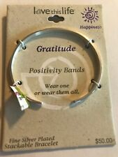 GRATITUDE Stackable Bracelet Cuff Positivity Bands Love This Life FREE SHIPPING!