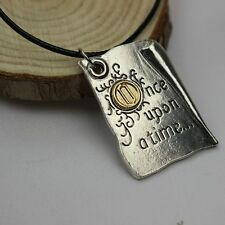 Once Upon A Time Storybook Pages necklace