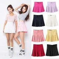 Fashion Womens Slim Thin High Waist Pleated Tennis Skirts Mini Dress Playful Hot
