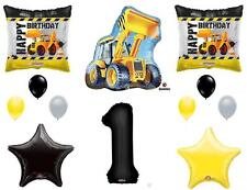 CONSTRUCTION 1ST First Happy Birthday Party Balloons Decoration Supplies Truck