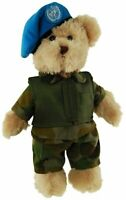 TIC TOC TEDDY PEACEKEEPER ARMY BEAR JOINTED BEAR IN PEACEKEEPERS UNIFORM