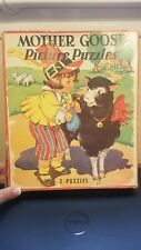 Vintage The Saalfield Pub Co. Mother Goose Two Puzzles 1941 Complete