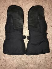 Vintage Olympia Snowmobile Snowboard Ski Gloves Mittens Leather Palm Patch Men M