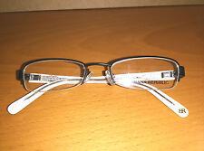 "BANANA REPUBLIC ""Blaine"" eyeglass frames 06FP - half rimless black/white/silver"