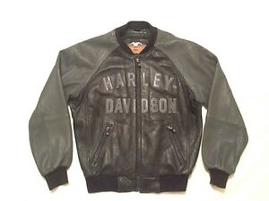 Harley-Davidson® Motorcycle 100th Year Anniversary Leather Bomber Jacket Men's M