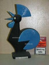 +# A004487_10 Goebel Archiv Muster stilisierter Hahn Cock Wan1 schwarz blau