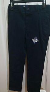 Boys IZOD Navy OR Khaki Uniform/Casual Flat Front Pants Reg Slim Husky 5-7 10-18