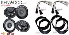 2 Pair Kenwood KFC-1665S 6.5 Speakers + Front / Rear Adapters + Harness