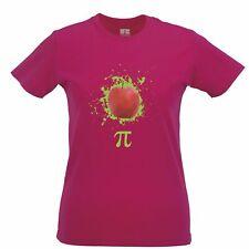 Novelty Womens TShirt Apple Pie Pi Math Pun Joke College Student Teacher